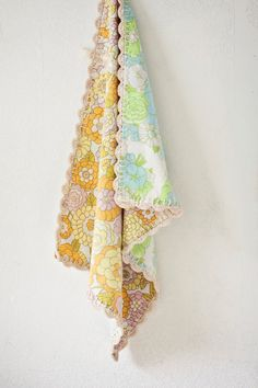 Upcycled Floral Crochet Baby Blanket, sold but love it so xxox.