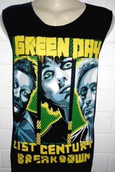 GREEN DAY Rock Band Music Metal T Shirt Tank Top Singlet Vest Sleevless One Size Fits All