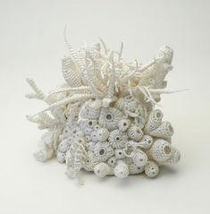 かぎ針編みの海のオブジェ : Doily