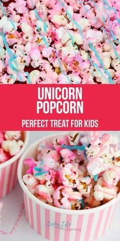 Unicorn Popcorn - Candy - Ideas of Candy - Do your kids love unicorns? They seem to be the sensation with children but more so lately. We have been having fun with it all! So now we will share with you a fun and delicious Unicorn Popcorn Recipe! Popcorn Snacks, Candy Popcorn, Flavored Popcorn, Gourmet Popcorn, Popcorn Balls, Rainbow Popcorn, Popcorn Toppings, Marshmallow Popcorn, Popcorn Mix