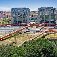 Pedestrian Bridges and Footbridges | Architectural Digest Pedestrian Overpass, Lisbon, Portugal