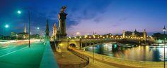Le Pont Alexandre III au crépuscule
