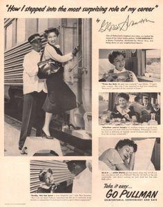 1952 Gloria Swanson travels Pullman train by catchingcanaries, $9.00