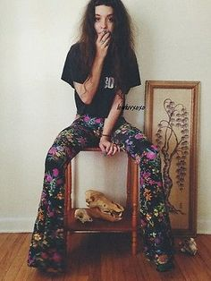 Spell and the Gypsy Collective Gypsy Queen Floral Bells Free People Bell Bottoms in Clothing, Shoes & Accessories, Women's Clothing, Pants | eBay