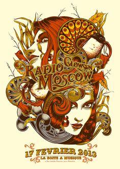 Poster: Radio Moscow   Glowsun   by Johan Jaccob