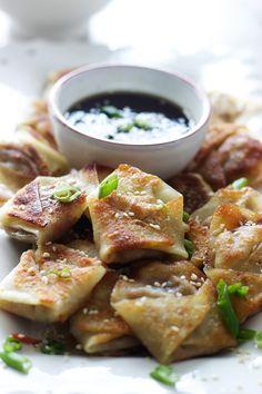 Easy Asian Dumplings with Hoisin Sesame Dipping Sauce   cookingforkeeps.com