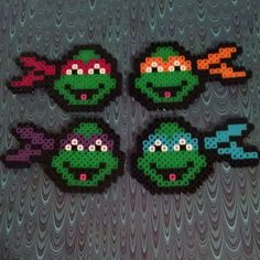TMNT perler beads by doucetcreations