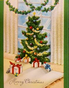 Christmas tree in the bay window.