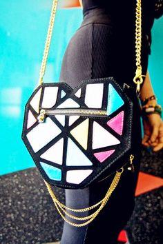 Geometric-style Shoulder Bag  If i had it, i gonna feel like a Exotic