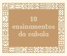 10 ensinamentos da Cabala
