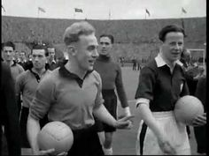 Wolverhampton vs Manchester United in the Semifinals and Wolverhampton vs Leicester in the FA Cup Final 1949 Fa Cup Final, Semi Final, Wolverhampton Wanderers Fc, English Football League, Vintage Football, Sports Photos, Replay, Leicester, Video Footage