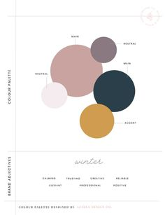 How to create the perfect colour palette for your brand Website Color Palette, Blush Color Palette, Modern Color Palette, Modern Colors, Winter Colour Palette, Vintage Colour Palette, Web Design, Design Color, Graphic Design