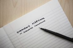 """The thought of Strategic Planning sends chills down the spine of many executives and board members who cringe at the thought of engaging in this annual ritual of """"Write It Down and Put It Away."""""""