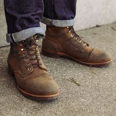 Iron Ranger Hawthorne Muleskinner roughout leather
