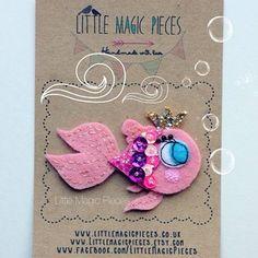 Little Fishy Hair clip Headband by Little Magic Pieces