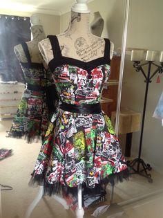 1950s Short Zombie Dress