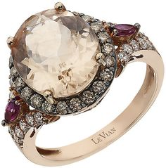 Le Vian Chocolatier Le Vian 14ct Strawberry Gold morganite & #diamond ring
