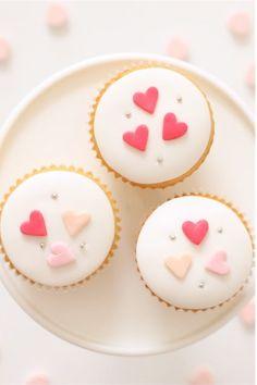 Pretty heart cupcakes