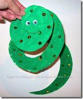 manualidades: serpientes hechas con un plato de papel | Jugar y colorear