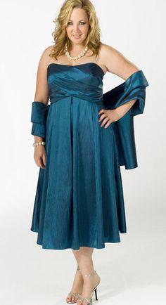 Moda Estilo Y Distinción Para Gorditas: Vestidos de Noche -Fiesta- Para Gorditas -Azules