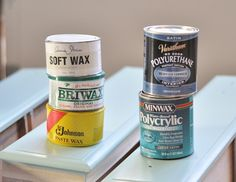 For a hand rubbed matte finish, choose a furniture wax protectant like Briwax, Minwax clear, SC Johnson, or Annie Sloan.  For this dresser, I used the Briwax clear paste wax, applied with a cotton rag and buffed to soft glow.
