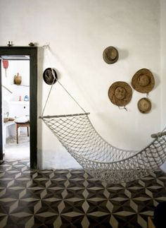 I worry about hammocks inside because it seems like damage waiting to happen.  But, I do love the look of them.