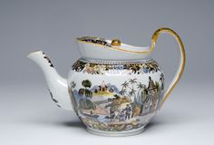 Teapot and Lid Artist/maker unknown, English Early 19th century
