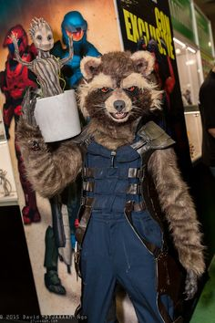Rocket Raccoon and Groot. I was literally standing right there when this picture was taken! :D