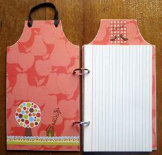 caderno de receitas com fichas pautadas