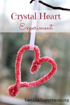 Busy Kids = Happy Mom: Crystal Heart Science Experiment for Valentine's Day. Pinned by SOS Inc. Resources.  Follow all our boards at http://pinterest.com/sostherapy  for therapy resources.