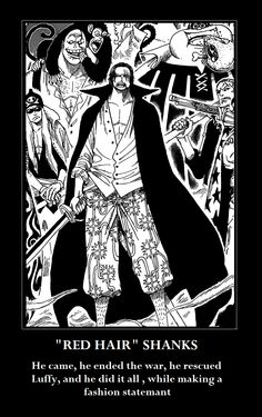 Truth : One Piece 2 Shanks by DRUNKENunicorn756.deviantart.com on @deviantART
