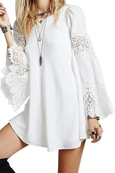 ╰☆╮Boho chic bohemian boho style hippy hippie chic bohème vibe gypsy fashion indie folk the . ╰☆╮ boho lace dress looking good light 🌸 Tent Dress, Swing Dress, Mode Outfits, Chic Outfits, Dress Outfits, Boho Fashion, Fashion Dresses, Cheap Fashion, Fashion Women