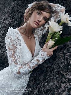Sottero and Midgley 2020 Fall Bridal Collection – The FashionBrides Colored Wedding Dresses, Dream Wedding Dresses, Wedding Dress Styles, Designer Wedding Dresses, Wedding Gowns, Lace Wedding, Wedding Ceremony, Lace Mermaid Wedding Dress, Wedding Dress Sleeves