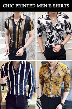 Fashionable Printed Men's Shirts for handsome guys. Smart Casual Outfit, Stylish Mens Outfits, Indian Wedding Suits Men, Floral Shirt Outfit, Formal Men Outfit, Mens Designer Shirts, Formal Shirts For Men, King Fashion, Handsome Guys