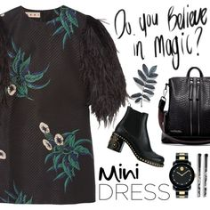 How To Wear Long sleeves Mini Dress Outfit Idea 2017 - Fashion Trends Ready To Wear For Plus Size, Curvy Women Over 20, 30, 40, 50