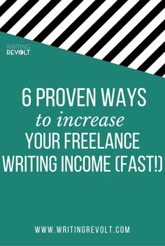 Learn how to increase your freelance writing income fast! This post walks you through the 6 strategies I used to make money writing online and build a $5K/mo freelance writing business.: