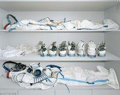 The astronaut dressing room (The Yuri Gagarin Cosmonaut Training Centre in Star City, Russia)