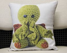 Amigurumi Cthulhu Cushion by Baron de Labry Emporium, $35.00    #barondelabry #barondelabryemporium