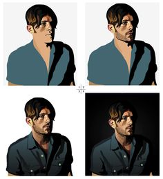 THE EVOLUTION OF AN ILLUSTRATION #hoodzpah #vector #illustration #portrait