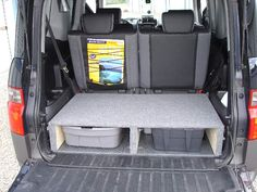 Rear Cargo Area Storage Shelf - Honda Element Owners Club Forum- this would even work for sam to sit on...