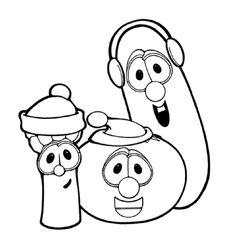 coloring pages feturing veggie tales | Veggie Tales Iron on Transfer | eBay | birthday ideas ...