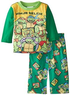 Nickelodeon Baby Boys TMNT Ninja Selfie 2 Piece Pajama Set Green 18 Months ** Continue to the product at the image link.