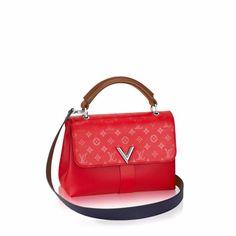 Louis Vuitton Rubis Cuir Plume/Cuir Ecume Very One Handle Bag