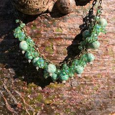 Excited to share the latest addition to my #etsy shop: Beaded Statement Necklace Boho Choker Necklaces for Women Vintage Green Ceramic Necklace Beaded Choker Chunky Necklace Ceramic Beads