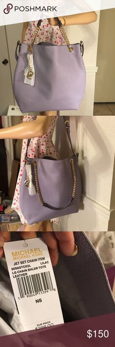 Michael kors NWT, comes with shopping bag only, original price, $298+ tax, color; Lilac Michael Kors Bags Shoulder Bags