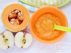 The tasty combination of the sweet butternut squash and the simple apple are the perfect puree for your 6-9 month baby.