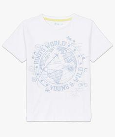 Tee-shirt imprimé à manches courtes Blanc