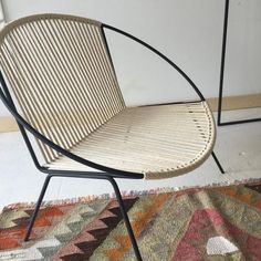 A new take on the classic Hoop Chair! Made with welded steel and hand woven with natural cotton cording. Each chair is made to order and lead time is approximately 3 weeks but can take up to 4. Finish