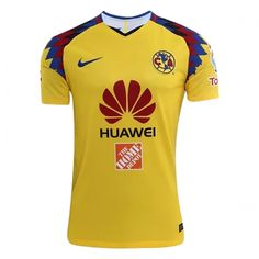 2018 Club America Third Away Yellow Soccer Jersey Shirt(Player Version) b384f1efea138