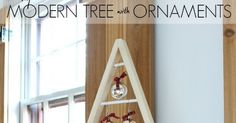 A DIY tutorial to build a modern wood tree decoration with free plans.